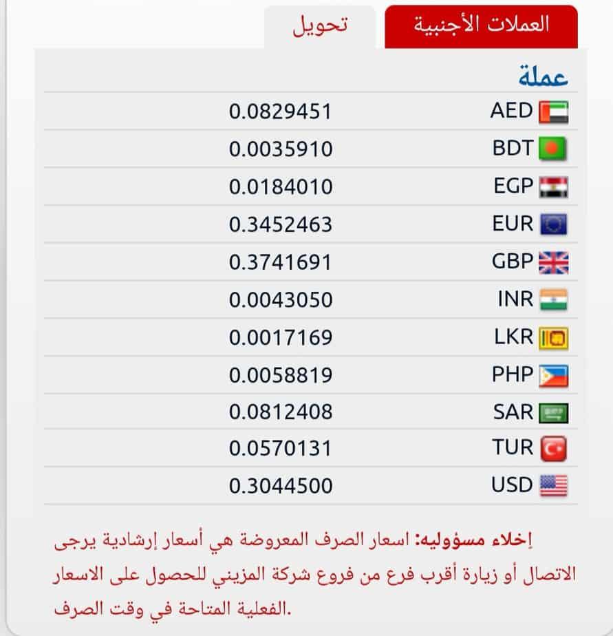 اسعار تحويل العملات بصرافة المزيني اليوم سعر تحويل الف جنية مصري وتحويل الدولار الامريكي الي البنوك المصريه الاثنين ١٢ أغسطس ٢٠١٩