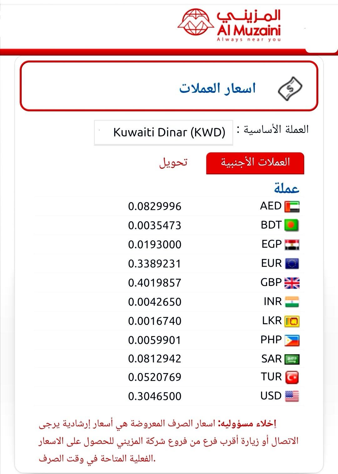 اسعار الدينار الكويتى بالجنيه المصرى