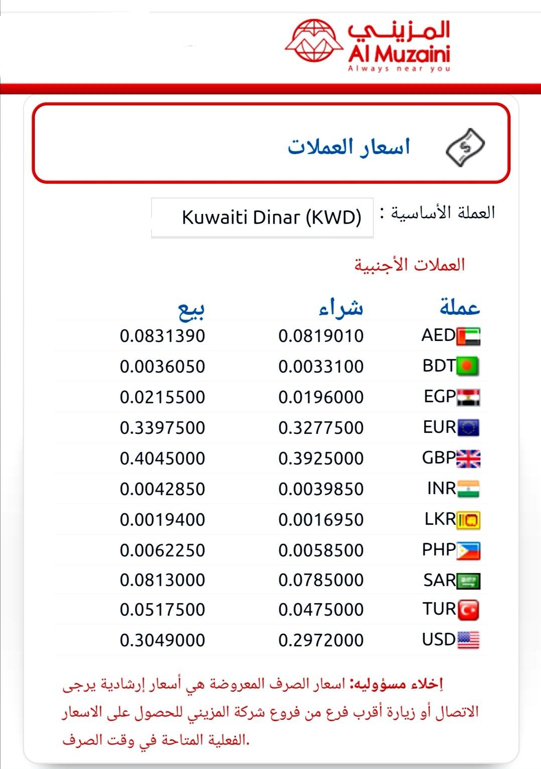 سعر الالف المصري في صرافة المزيني اليوم