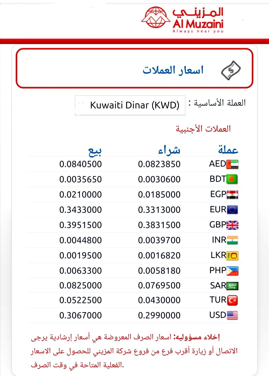 اسعار العملات الاثنين ٢مارس صرافة المزيني