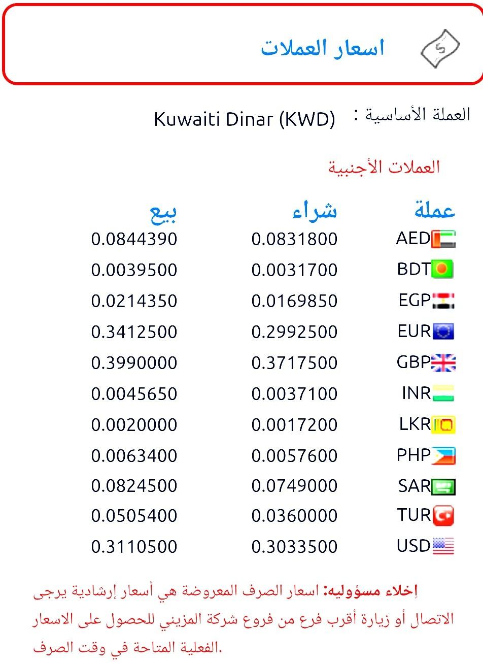 100 دينار كويتي كم مصري المزيني صرف العملات الاثنين ٤ مايو