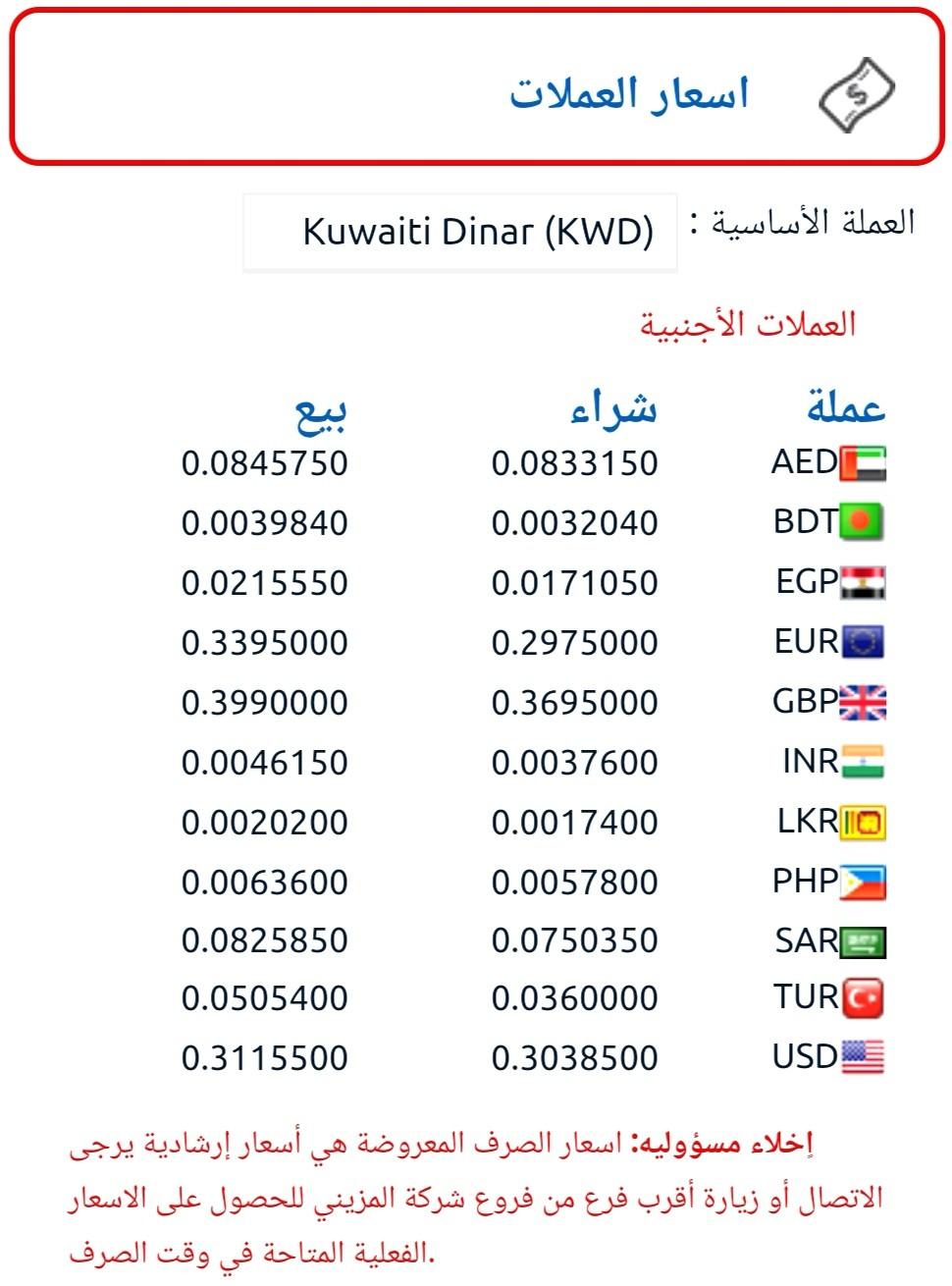 اسعار العملات اليوم تطبيق المزيني و رابط الدفع لتحويلات المالية