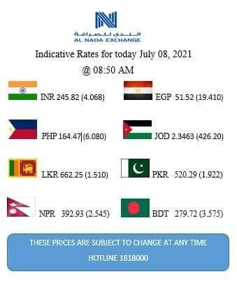 سعر تحويل الدينار الكويتى مقابل الجنيه المصرى صرافة الندي الدوليه ٨ يوليو ٢٠٢١